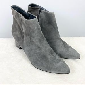 Paul Green Bridget Iron Suede Leather Ankle Boots Gray 6